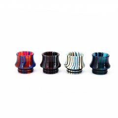 Authentic Clrane 810 Rainbow Replacement Resin Drip Tip 15mm 1pc - Random Color