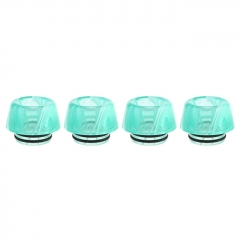 Authentic Clrane Acrylic 810 Drip Tip (4-Pack) 13.7mm - Green