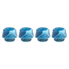 Authentic Clrane Acrylic 810 Drip Tip (4-Pack) 13.7mm - Blue