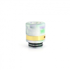 Authentic Clrane 810 Replacement Drip Tip Aluminum + Resin 17mm - White