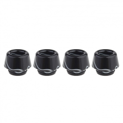 Authentic Clrane Acrylic 810 Drip Tip (4-Pack) 13.7mm - Black