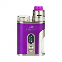 Authentic Eleaf Pico Squeeze 2 100W 18650/21700 TC VW Variable Wattage Squonk Box Mod w/8ml Bottle + Coral 2 RDA Kit - Purple