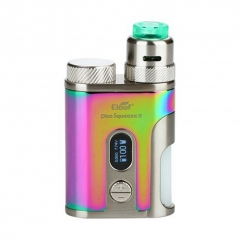 Authentic Eleaf Pico Squeeze 2 100W 18650/21700 TC VW Variable Wattage Squonk Box Mod w/8ml Bottle + Coral 2 RDA Kit - Rainbow