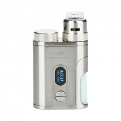 Authentic Eleaf Pico Squeeze 2 100W 18650/21700 TC VW Variable Wattage Squonk Box Mod w/8ml Bottle + Coral 2 RDA Kit - Silver