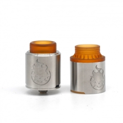Phobia Style 24mm RDA Rebuildable Dripping Atomizer w/Extra Cap - Silver