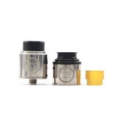 Authentic Advken Breath 24mm RDA Rebuildable Dripping Atomizer w/ BF Pin - Silver