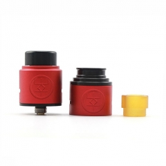 Authentic Advken Breath 24mm RDA Rebuildable Dripping Atomizer w/ BF Pin - Red