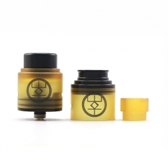 Authentic Advken Breath 24mm RDA Rebuildable Dripping Atomizer w/ BF Pin - Yellow