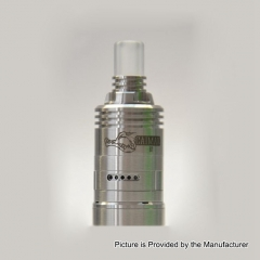Pre-Sale Caiman Style MTL 22mm 316SS RDA Rebuildable Dripping Atomizer w/ BF Pin - Silver