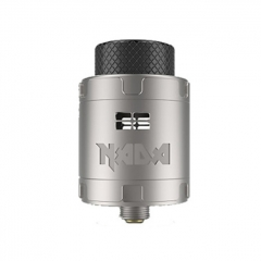 Authentic Tigertek Nada 25mm RDA Rebuildable Dripping Atomizer w/ BF Pin - Full Silver