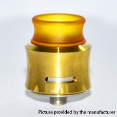 Andromeda Style 304SS 24mm RDA Rebuildable Dripping Atomizer w/BF Pin - Gold