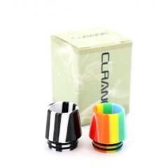 Authentic Clrane Resin 810 Drip Tip 16mm (1pc) - Black White