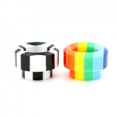 Authentic Clrane Resin 810 Drip Tip 17.6mm (1pc) - Black White