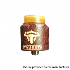 Authentic Thunderhead Creation THC Tauren RDA 24mm RDA Rebuildable Dripping Atomizer w/BF Pin - Cracked Red