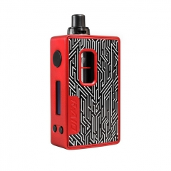 Authentic Hotcig R-AIO 80W 18650 TC VW Variable Wattage Starter Kit 0.6ohm - Red