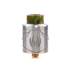Authentic Avidvape Ghost Inhale 24mm RDA Rebuildable Dripping Atomizer w/BF Pin - Silver