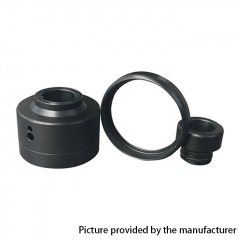 Replacement Drip Tip + Cap +Ring for Haku  Venna RDA - Black