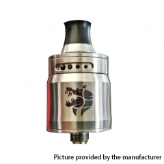 (Ships from Germany)Authentic Ammit 22mm MTL RDA Rebuildable Dripping Atomizer w/ BF Pin - Silver