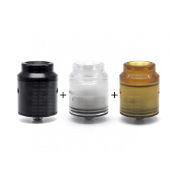 ULTON Kali Style 25mm RDA RSA Rebuildable Dripping Atomizer w/BF Pin/ 2 Set Caps - Black