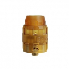 Authentic Serisvape Golden Armor 26mm RDA Rebuildable Dripping Atomizer w/BF Pin - Yellow