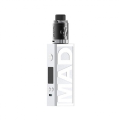 Authentic Desire Mad 108W 18650/20700 TC VW Variable Wattage Box Mod + M-Tank 3ml Kit - Silver