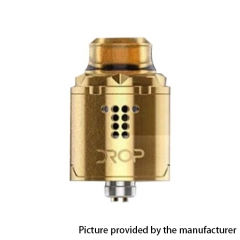 Authentic Digiflavor Drop Solo 22mm RDA Rebuildable Dripping Atomzier w/ BF Pin - Gold