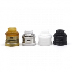 Lysten S B2K RSA V5 Style 23mm 316SS RDA Rebuildable Dripping Atomizer w/ BF Pin - Silver