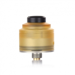 Authentic GAS Mods Nixon S 22mm RDA Rebuildable Dripping Atomizer w/BF Pin - Yellow