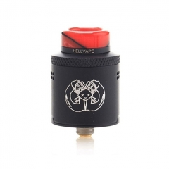 Pre-Sale Authentic Hellvape Drop Dead 24mm RDA Rebuildable Dripping Atomizer w/ BF Pin - Full Black