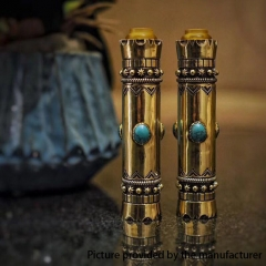 Authentic Burce Vape NS 18650 Mechanical Mod Kit 1pc 25mm - Gold