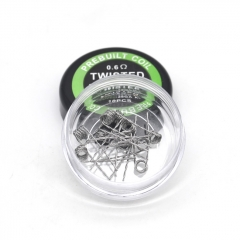 Authentic Pirate Coil Pre-made Twisted Coil Kanthal A1 28GA 0.6ohm Stainless Steel Coil 3.0mm (10-pack)