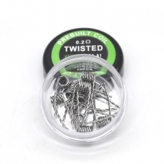 Authentic Pirate Coil Pre-made Twisted Coil Kanthal A1 24GA 0.2ohm Stainless Steel Coil 3.0mm (10-pack)