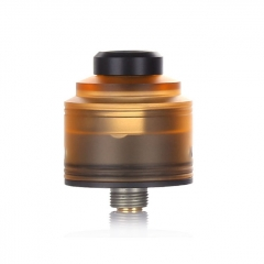 Authentic GAS Mods Nixon S 22mm RDA Rebuildable Dripping Atomizer w/BF Pin - Amber