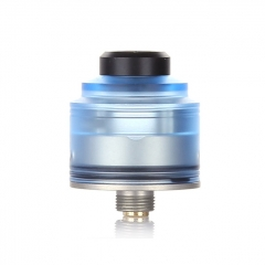 Authentic GAS Mods Nixon S 22mm RDA Rebuildable Dripping Atomizer w/BF Pin - Blue Silver