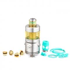 Authentic Footoon Aqua Ux 22mm Sub Ohm Tank Clearomizer 2.6ml/0.4ohm - Silver