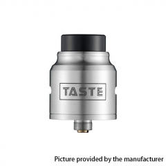 Authentic Omeka MSM Taste 24mm RDA Rebuildable Dripping Atomizer w/ BF Pin - Silver