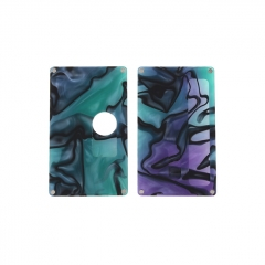 SXK Replacement Front + Back Cover Panel for BB 60W/70W Mod - Purple Grren