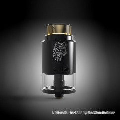 Authentic 5GVape Leopard 24mm RDTA Rebuildable Dripping Tank Atomizer 4ml - Black