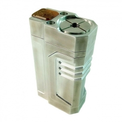 Recastor Style 18650 BF Squonk Mechanical Box Mod w/ 8.0ml Bottle - Silver