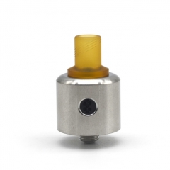 ULTON Convergent Style 22mm RDA Rebuildable Dripping Atomizer w/ BF Pin/ Drip Tip - Silver