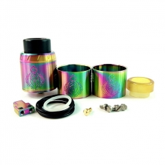 Kindbright Centurion V2 316SS 30mm Style RDA Rebuildable Dripping Atomizer w/ BF Pin - Rainbow