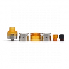 (Ships from Germany)ULTON Parvum Style 22mm RDA Rebuildable Dripping Atomizer w/BF Pin - Silver