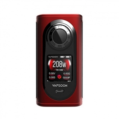 Authentic Laisimo Vapsoon-Spin 208W TC VW Variable Wattage Box Mod - Red