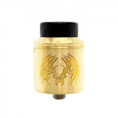 Reckoning Style RDA 25mm Rebuildable Dripping Atomizer w/ BF Pin - Brass