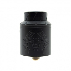 Reckoning Style RDA 25mm Rebuildable Dripping Atomizer w/ BF Pin - Black