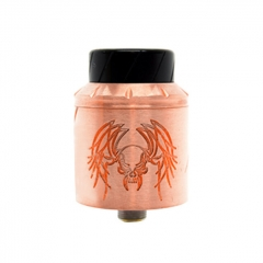 Reckoning Style RDA 25mm Rebuildable Dripping Atomizer w/ BF Pin - Copper