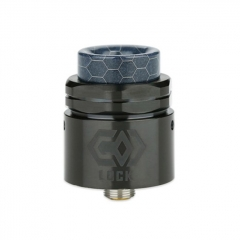Authentic Ehpro Lock 24mm RDA Rebuildable Dripping Atomizer w/BF Pin - Black