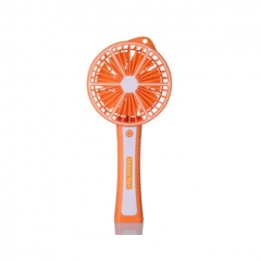 Outdoor Mini HandHeld USB Charging Fan Portable Lemon Cooling Fan - Orange