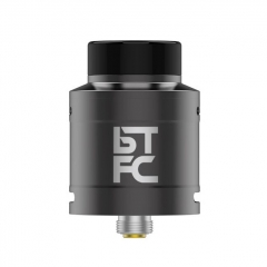 Authentic Augvape BTFC 25mm RDA Rebuildable Dripping Atomizer w/ BF Pin - Gun Metal