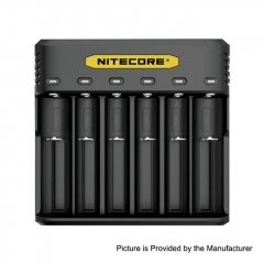 Authentic NITECORE Q6 Multi-functional Intelligent Charger for 18650/20700/21700 Battery 6 Slots - Black